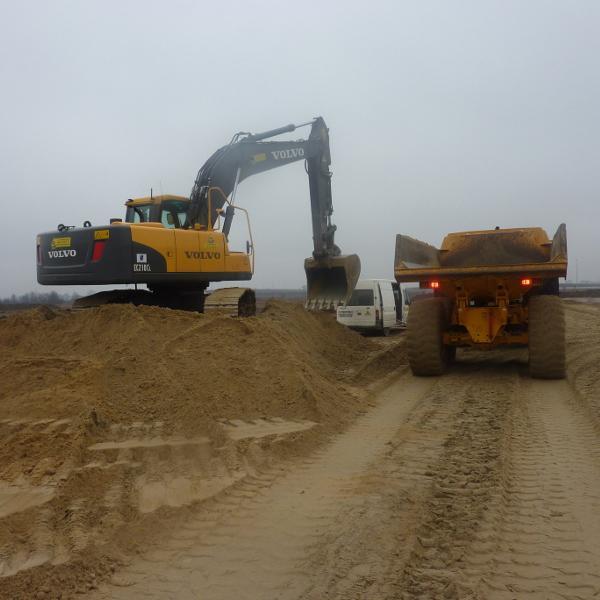 Przygotowanie terenu podbudowę